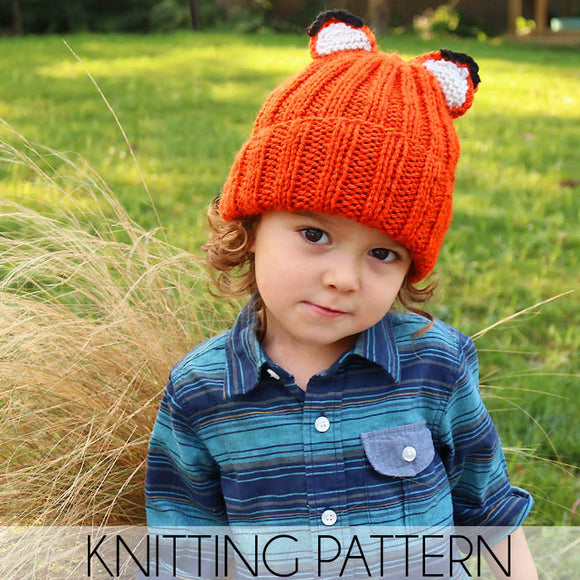 Fox Hat Knitting Pattern