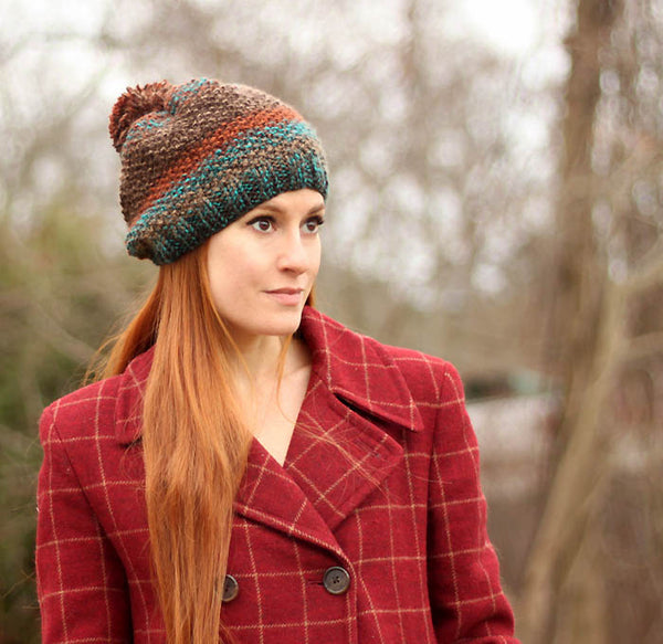 Seed Stitch Hat Knitting Pattern