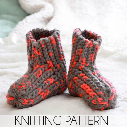 Easy Womens Slippers Knitting Pattern
