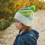 Flat Knit Swirl Hat Knitting Pattern