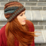 Slouchy Swirl Hat Knitting Pattern