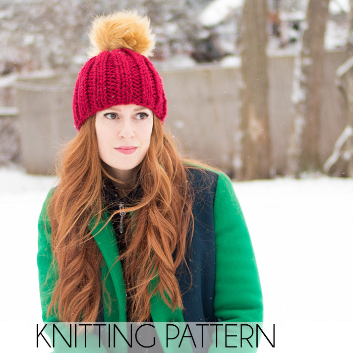 Thick & Quick Beanie Knitting Pattern