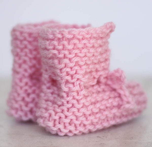 Flat Knit Newborn Booties Knitting Pattern