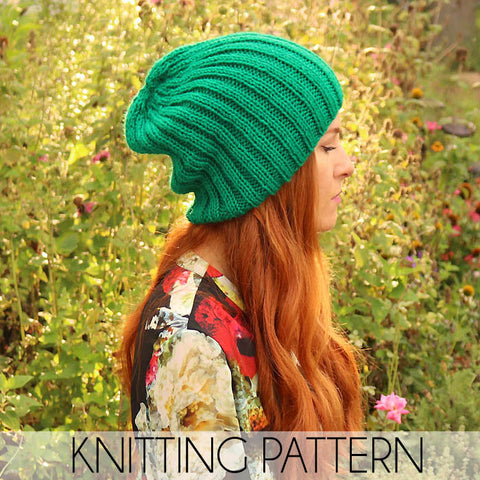 Slouch Beanie Knitting Pattern
