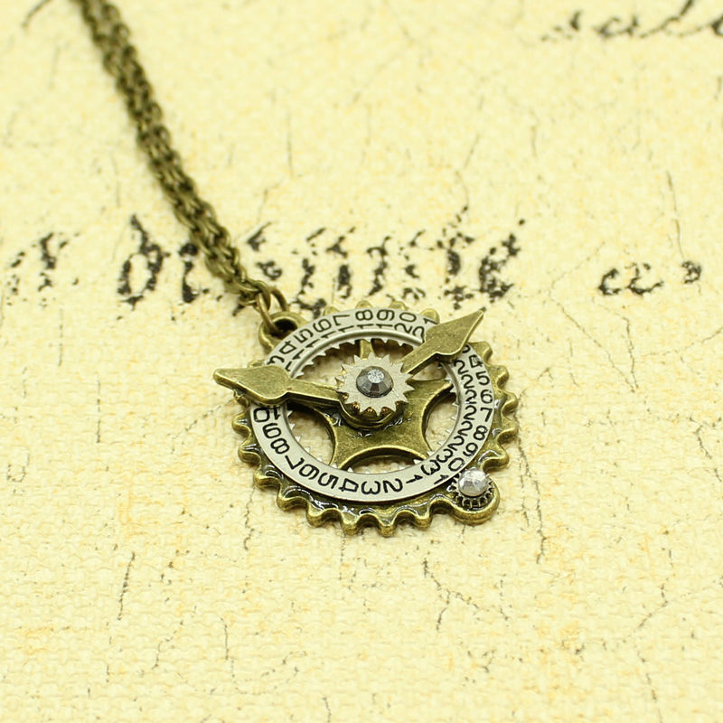 com clock necklace sand sammydress pendant in alloy