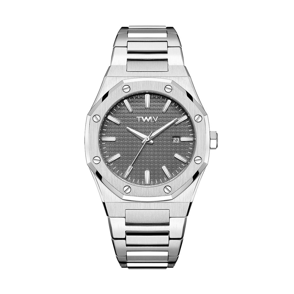 TW3501 TWLV Mr Darcy Steel-Gun Metal Watch