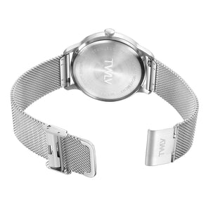 TW4208 Mr. Jones Silver/Black Mesh Watch