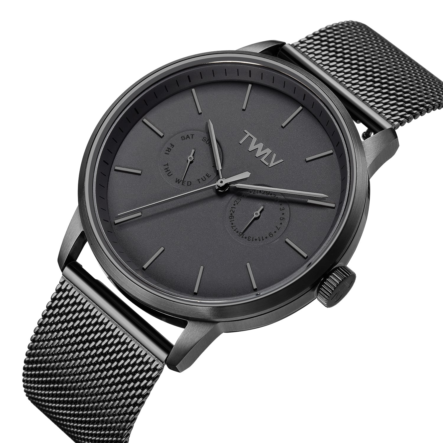 TW4407 Mr. King Gun Metal Mesh Black Watch