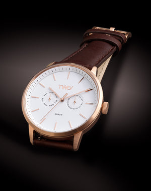 TW4403 Mr. King Brown Strap Rose Watch