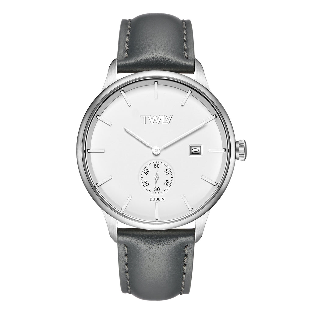 TW4203 TWLV Mr. Jones Grey Strap Steel Watch