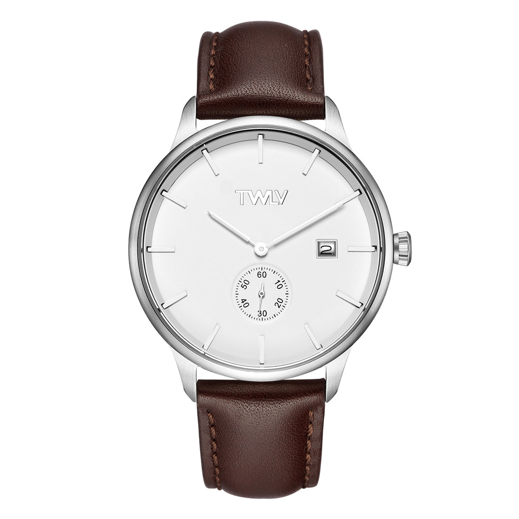 TW4202 TWLV Mr Jones Brown Strap Watch