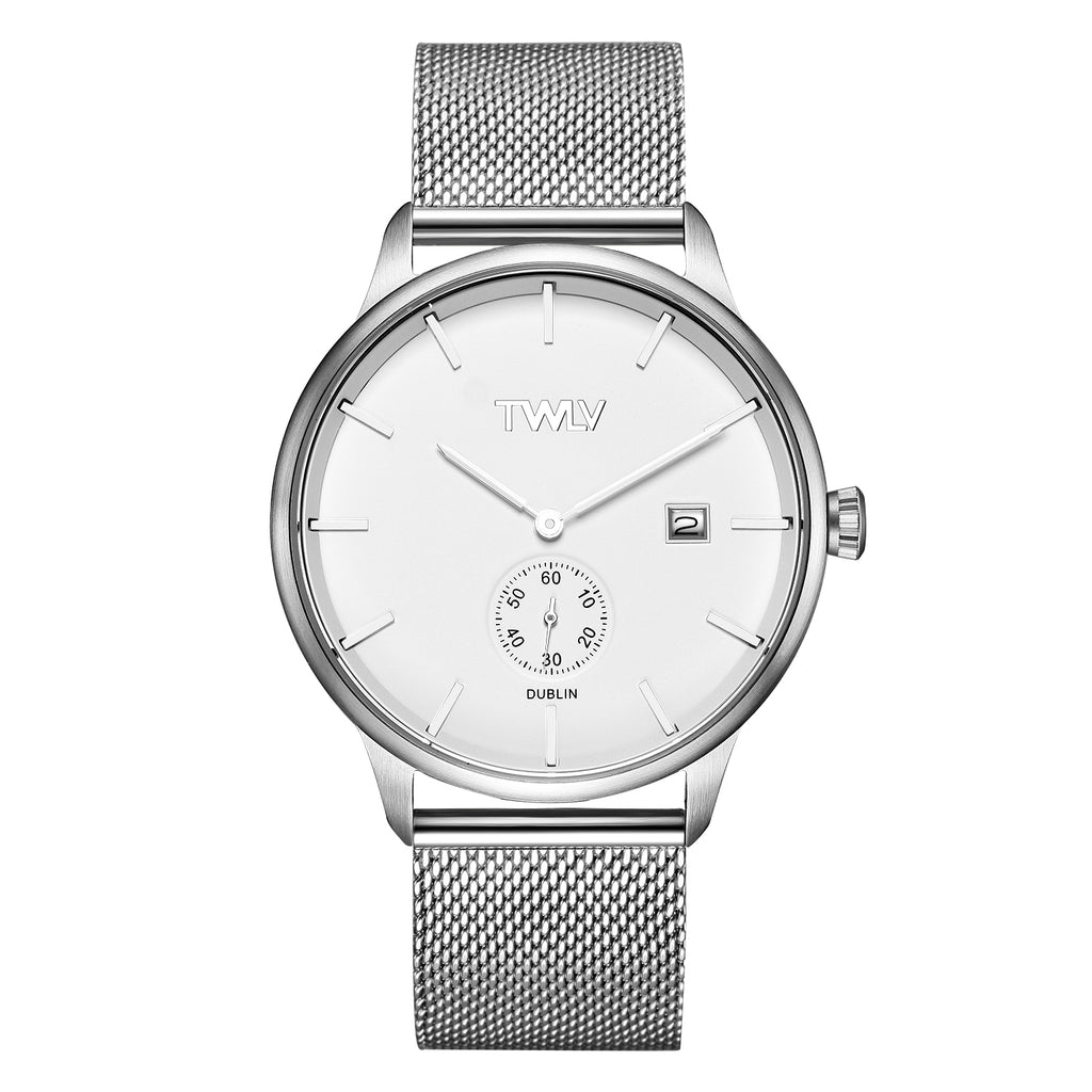 TW4201 Mr. Jones Silver Mesh Steel Watch