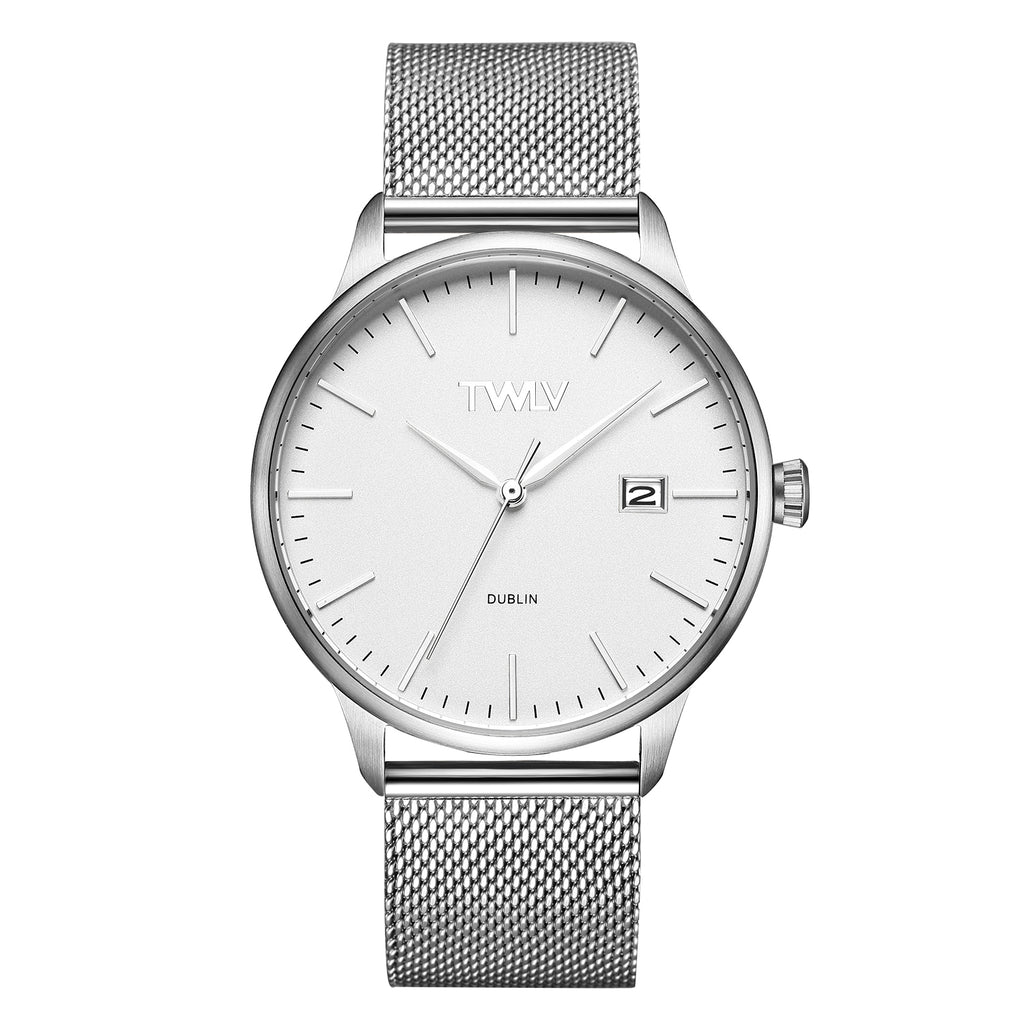 TW4301 TWLV Mr. Smith Silver Mesh Steel Watch