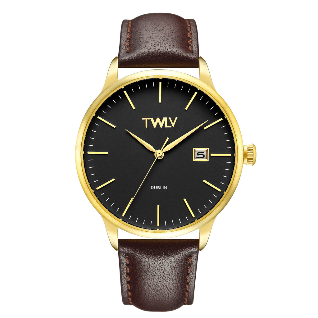 TW4307 TWLV Mr. Smith Brown Strap Gold Watch