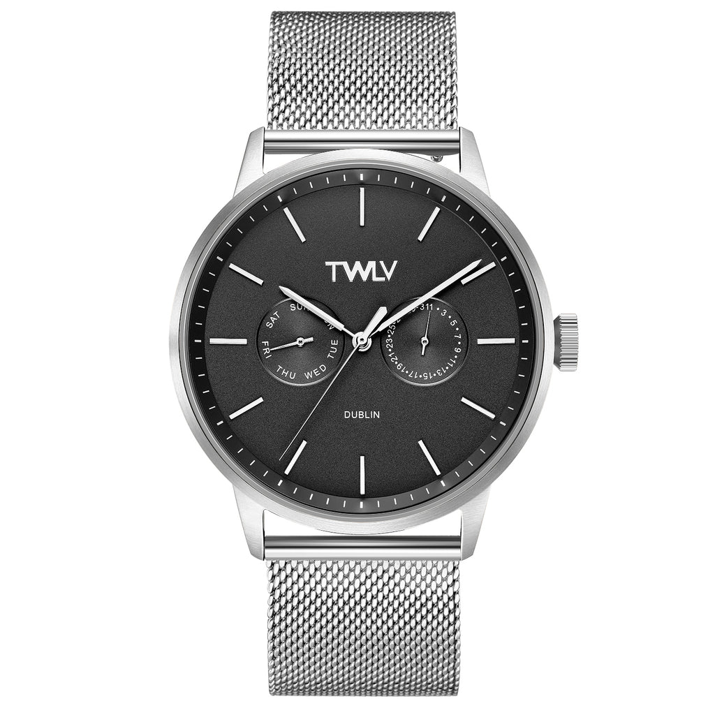 TWLV Gents Mr. King  Silver Mesh Watch