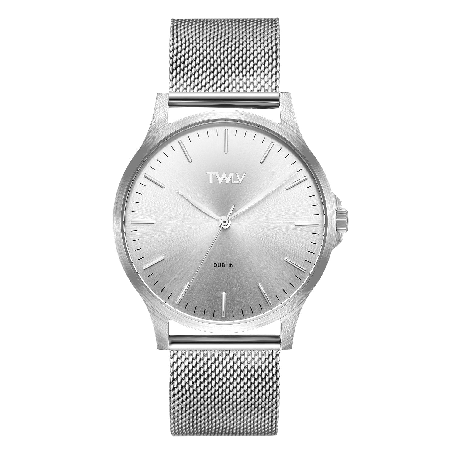 TWLV Gents Mr. Argue  Silver Mesh Watch