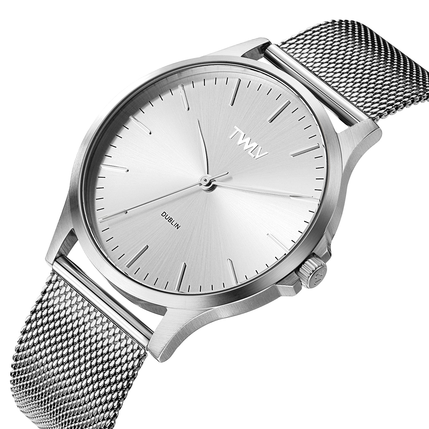 TW4602 TWLV Mr. Argue Silver Mesh Steel Watch