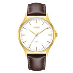 TW4609 TWLV Mr. Argue Brown Strap Gold Watch