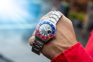 TW9604 TWLV Mr. Power Blue & Red Steel Watch