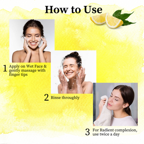 How to use Lemon face wash