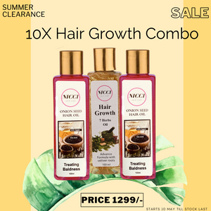 Hair Growth Organic Hair Oil - Nicci Skin Care