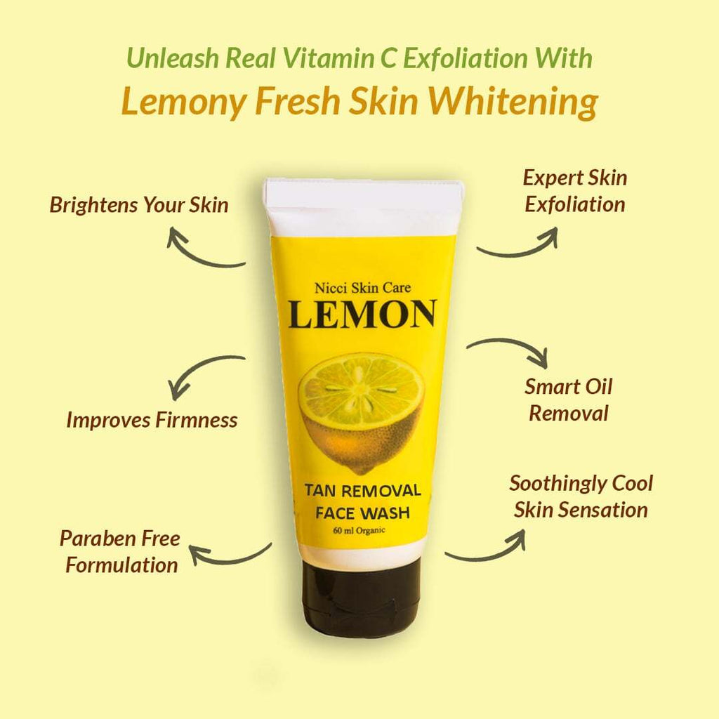 Nicci Lemon Tan Removal Face Wash - Nicci Skin Care