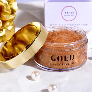 Gold Glitter Gel - Nicci Skin Care
