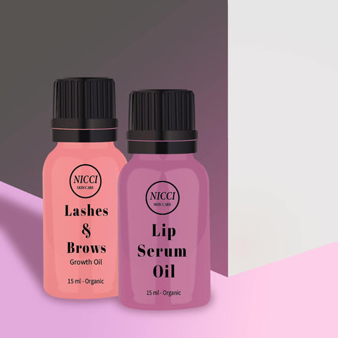 Lip & Lash Oil Serum Combo - Nicci Skin Care