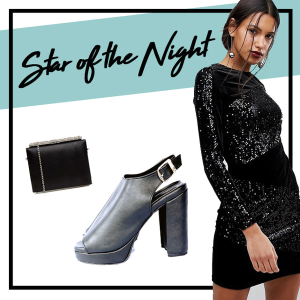 sequin dress party outfit