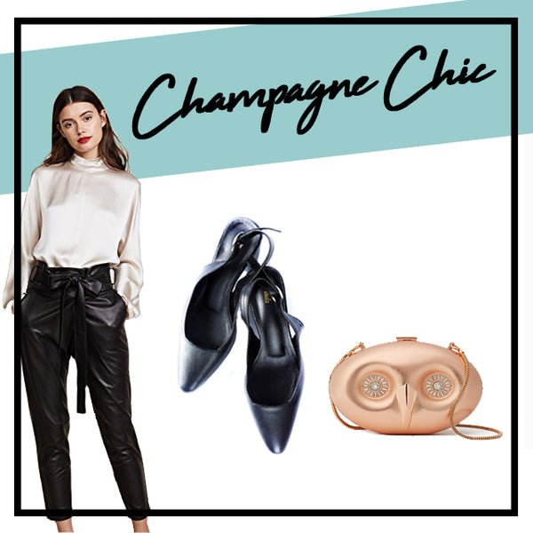 champagne outfit idea for party