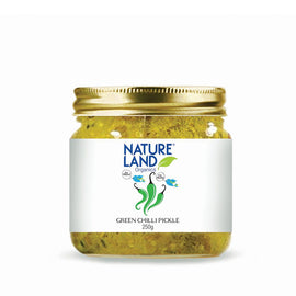 Natureland Organics Chilli Pickle 350 Gm - sai-organics-pte-ltd