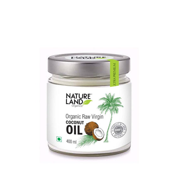 Natureland Organics Raw Virgin Coconut Oil 400 Ml - sai-organics-pte-ltd