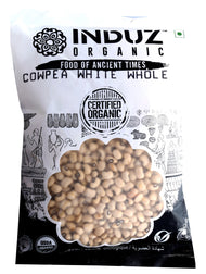 Induz Organics Cowpea White Whole 500 Gm