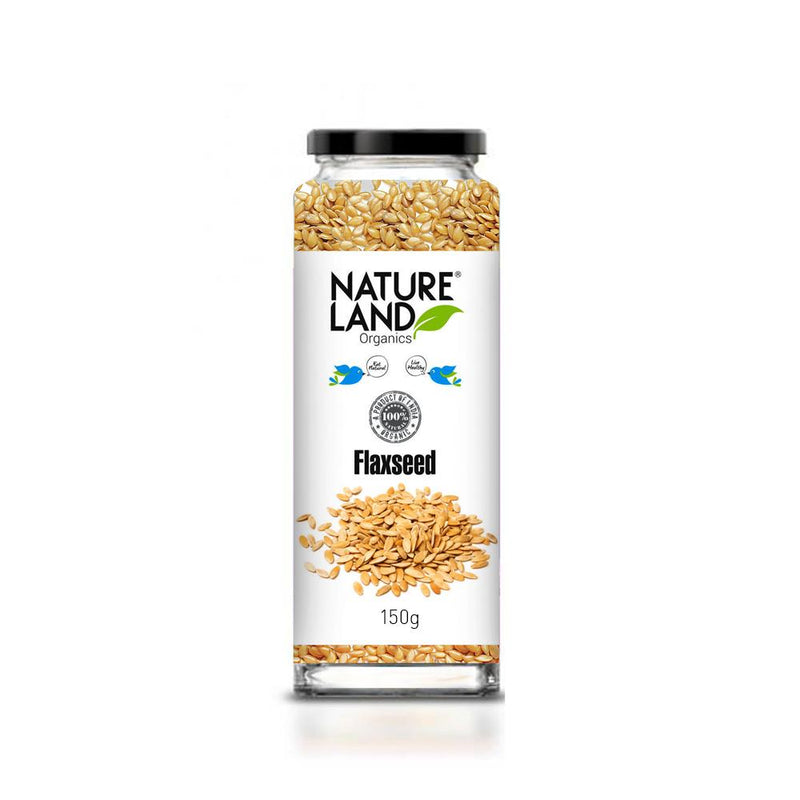 Natureland Organics Flaxseed Raw 150 Gm - sai-organics-pte-ltd