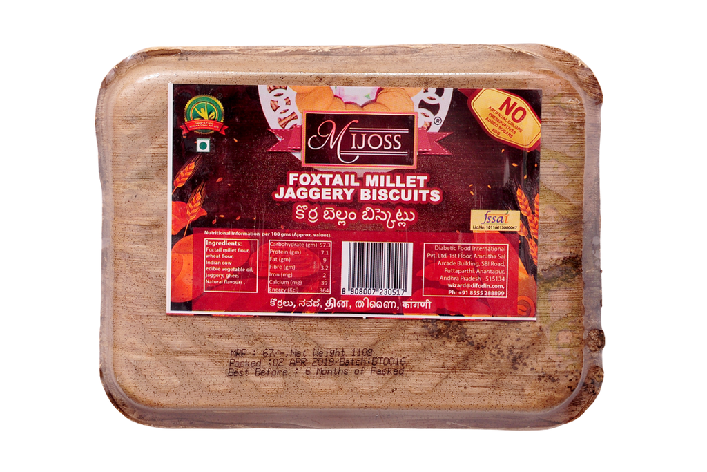 Mijoss Foxtail Millet Jaggery Biscuits 110 Gm
