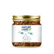 Natureland Organics Garlic Pickle 350 Gm - sai-organics-pte-ltd