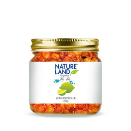 Natureland Organics Lemon Pickle 350 Gm - sai-organics-pte-ltd