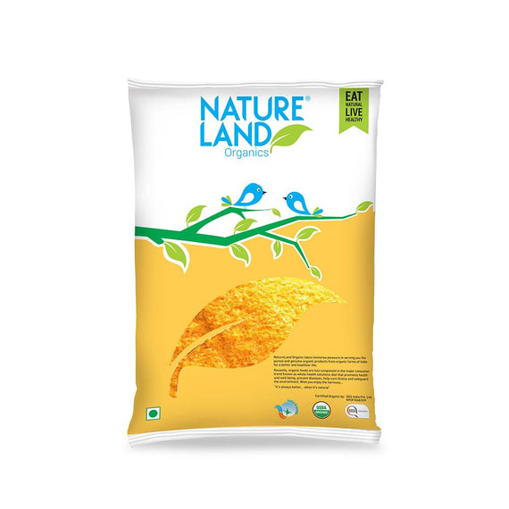 Natureland Organics Maize Flour 500 Gm - sai-organics-pte-ltd