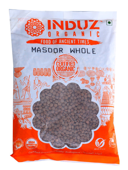 Induz Organics Masoor Whole 500 Gm