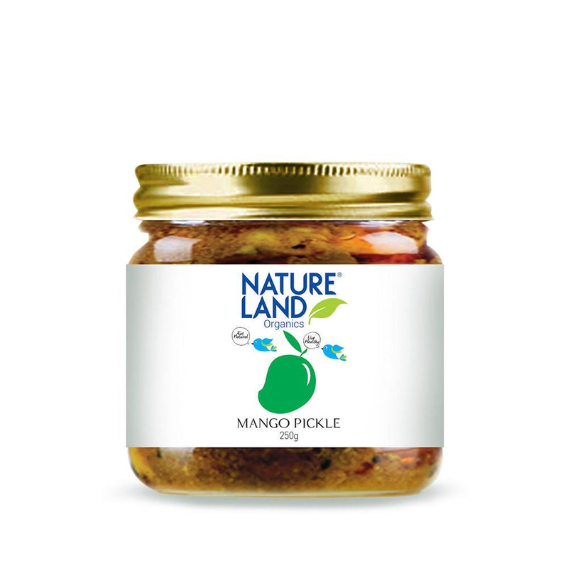 Natureland Organics Mango Pickle 350 Gm - sai-organics-pte-ltd