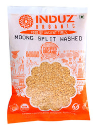 Induz Organics Moong Split Washed (Yellow) 500 Gm