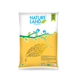 Natureland Organics Moong Split Washed 500 Gm - sai-organics-pte-ltd