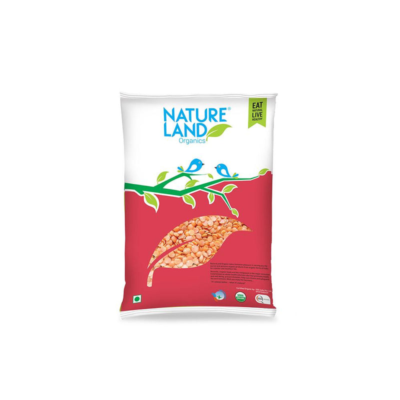 Natureland Organics Masur split washed 500 Gm - sai-organics-pte-ltd