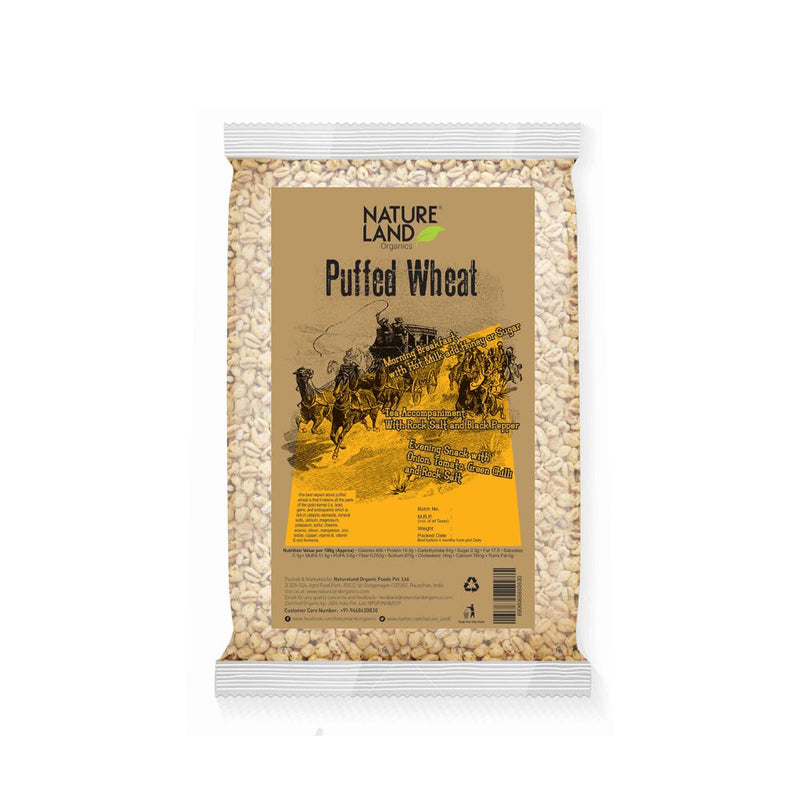 Natureland Organics Puffed Wheat 150 Gm - sai-organics-pte-ltd