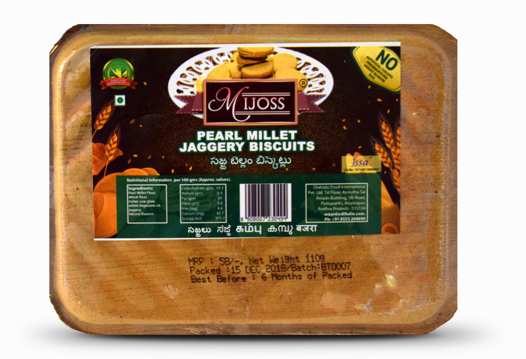 Mijoss Pearl Millet Jaggery Biscuits 110 Gm