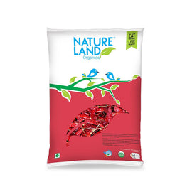 Natureland Organics Red Chilli Whole 50 Gm - sai-organics-pte-ltd