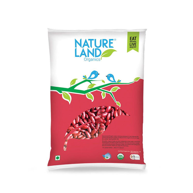 Natureland Organics Rajma Red 500 Gm - sai-organics-pte-ltd