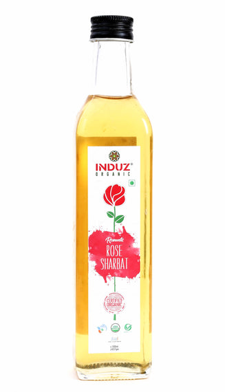 Induz Organics Romantic Rose Sharbat 700 Ml.