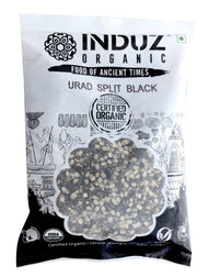 Induz Organics Urad Split Black 500 Gm