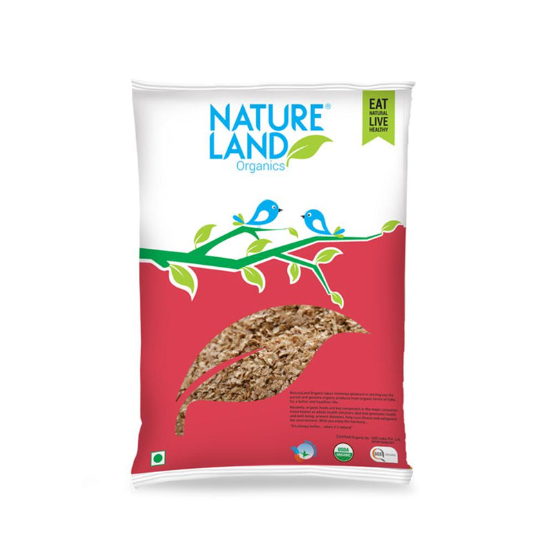 Natureland Organics Wheat Bran 400 Gm - sai-organics-pte-ltd